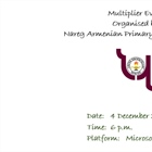 Multiplier Event Organised by Nareg Armenian Primary School, Nicosia